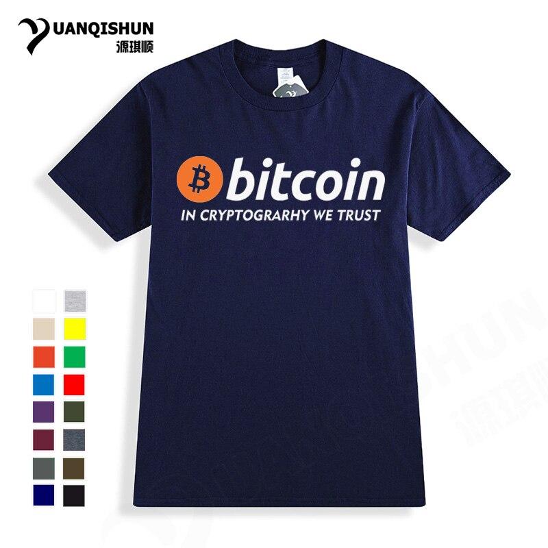 2018 novo bitcoin em cryptograrhy nós confiamos t camisa de alta qualidade marca masculina feminina manga curta camiseta