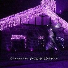 New!holiday Light Celebration Decoration Coloured Lighting Wedding Product Showcase Decoration 1*6m Purple Curtain Lamp H223