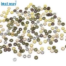 4 мм Оптовая продажа 500 шт Тибетский серебристый цвет цветок разделительные Бусины круглые металлические колеса ромашки бусины для изготовления ювелирных изделий