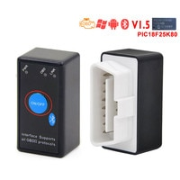 ELM327 V1.5 PIC18F25K80 Chip Bluetooth Power Switch 16Pin 12V OBDII Car Code Reader ELM 327 Android Diagnostic tool