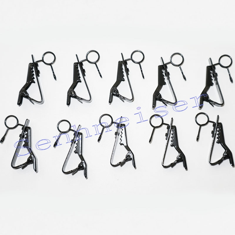 50 шт. Бесплатная доставка запасные Сменные 6-7 мм Металлические зажимы для микрофона для Sennheiser ME2 Sony V1 D11 Lavalier лацканы микрофоны