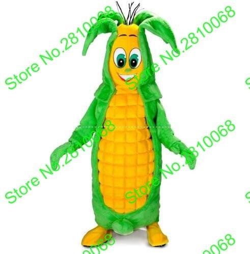 Alta calidad EVA Material maíz mascota disfraz comida dibujos animados ropa Halloween fiesta de cumpleaños Cosplay adulto tamaño 558