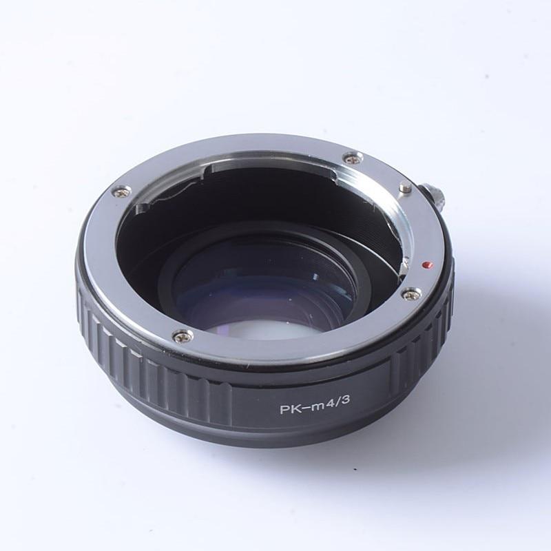 Anillo adaptador Turbo de refuerzo de velocidad de Reductor Focal para Pentax PK lente a m4/3 montaje Cámara GF6 E-PL6 GX1 GX7 EM5 EM1 E-PL5 BMPCC