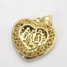 Pendentif et collier en forme de coeur musulman ALLAH pour femmes et hommes, breloque Islam cadeau et bijoux
