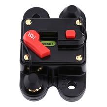 Interruptor de circuito 100A DC12V para coche barco marino bicicleta estéreo reinicio de Audio fusible