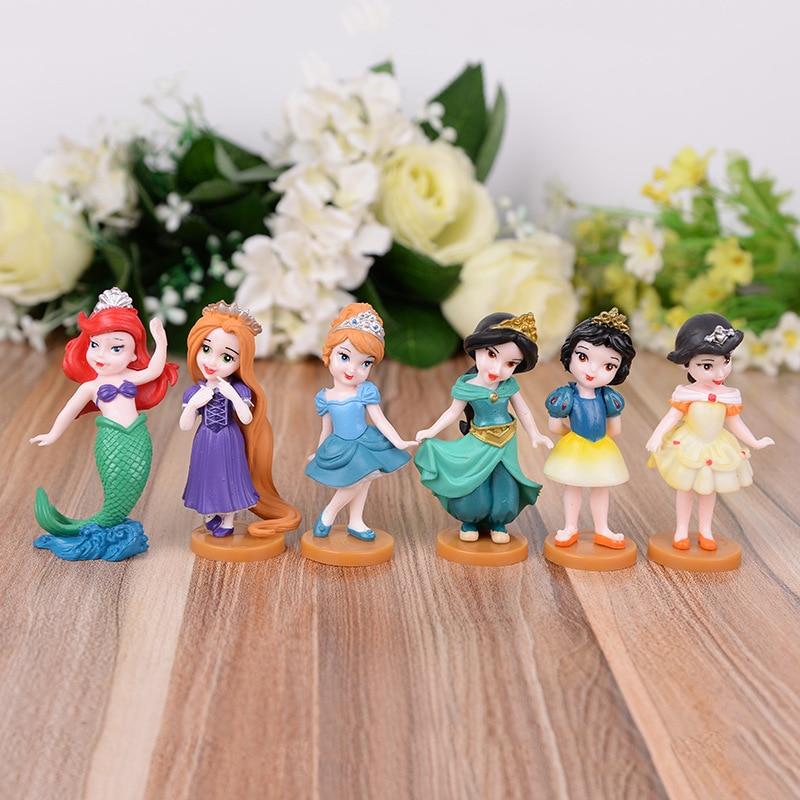 6 teile/los Disney Pvc Schnee Weiß Dekoration Action-figuren Nette Cartoon Spielzeug Modelle Mädchen Geschenke