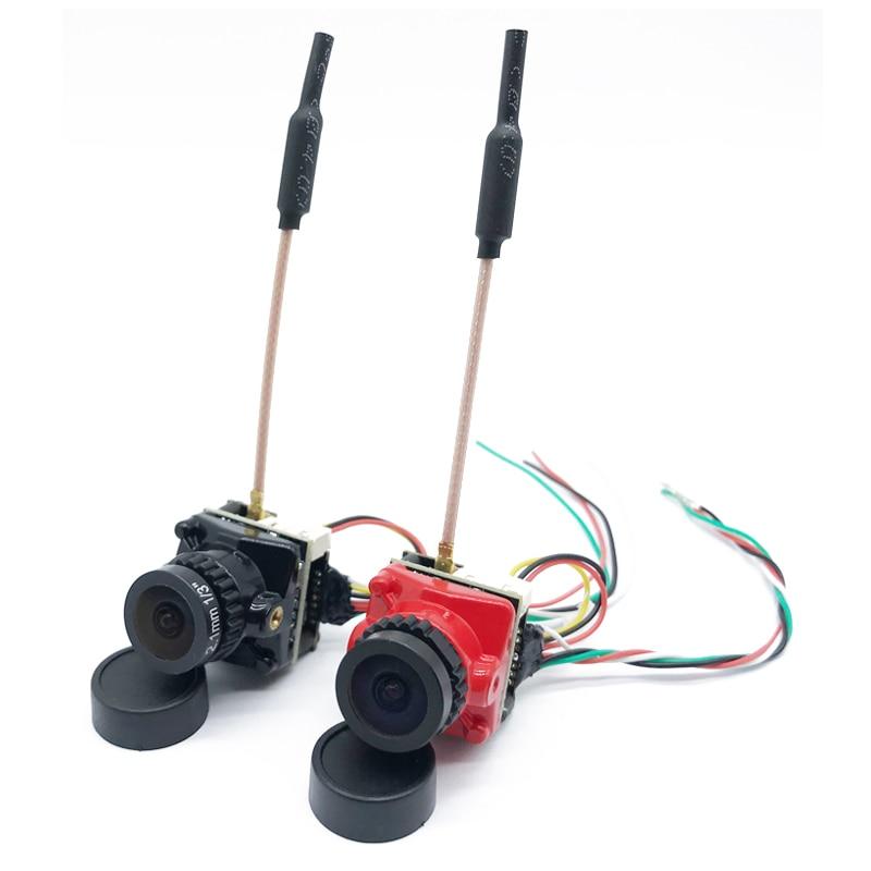 5,8G 48CH FPV transmisor 25/100/200mW soporte smartaudio DC 5-24V con CMOS 1200TVL PAL/NTSC 2,1mm lente Micro Cámara