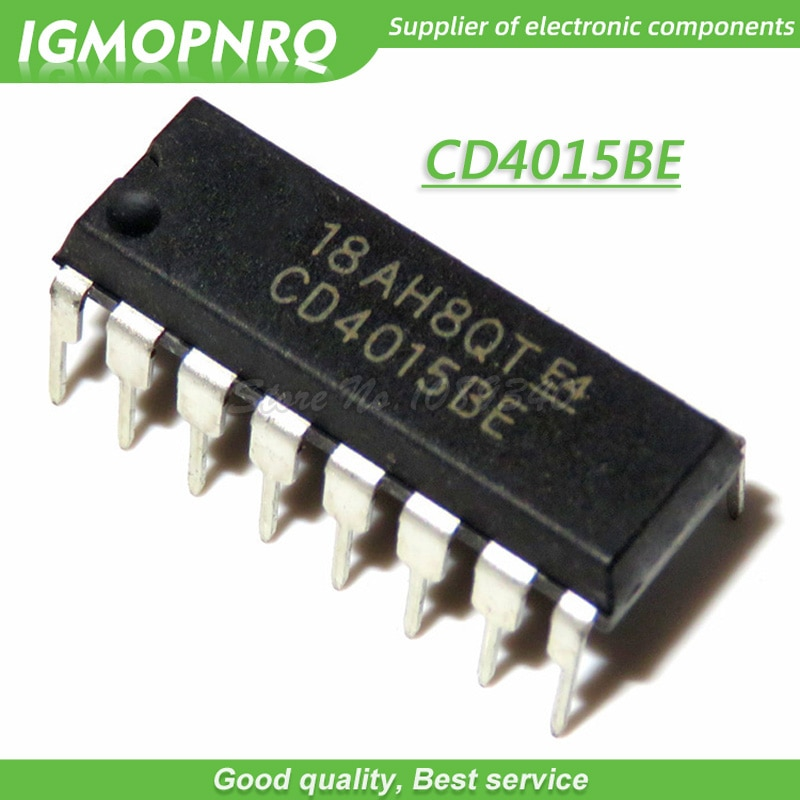 10 шт./лот CD4015 CD4015BE DIP-16 Logic-Standard Shift Register Chip New Original