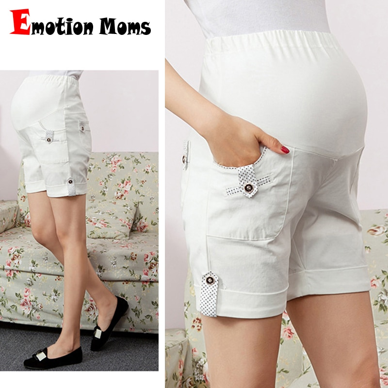 Emotion Moms Maternity Pants summer Maternity Trousers High waisted breastfeeding Trousers for pregnant women Pregnant shorts enlarge