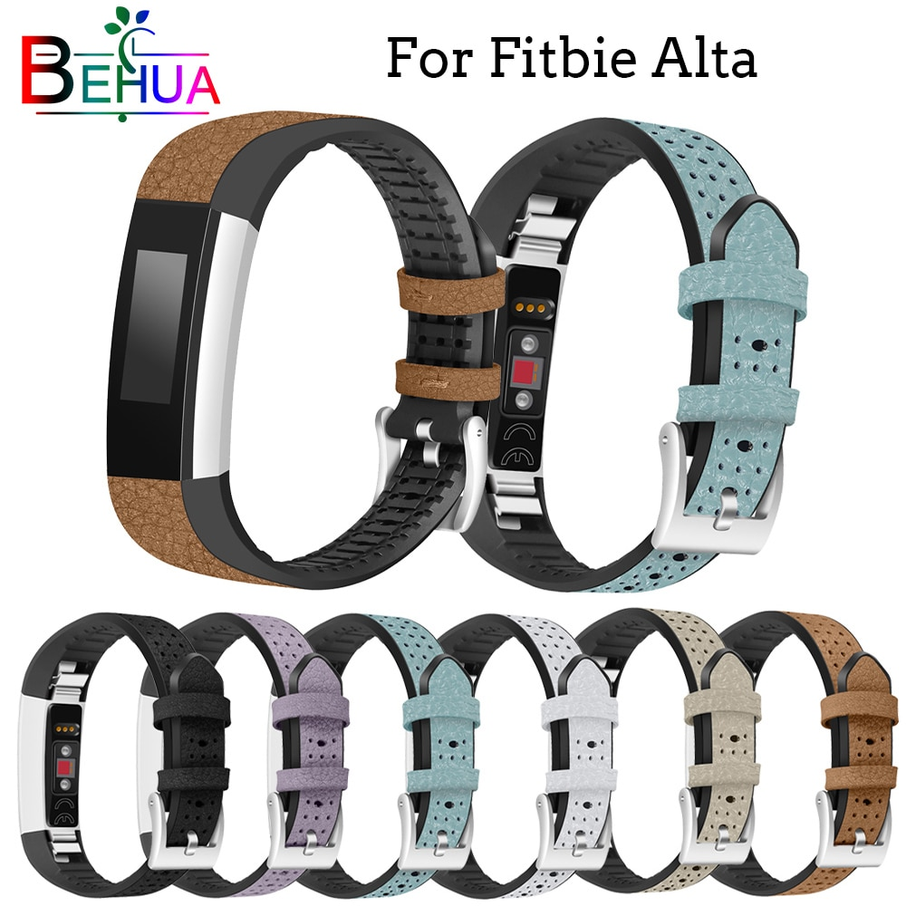 High Quality Durable leather strap For Fitbit Alta watch wristband tracker watchband replacement for Fitbit Alta HR Luxury band new high quality genuine stainless steel watch bracelet band strap for fitbit alta hr for fitbit alta watch wrist strap bands