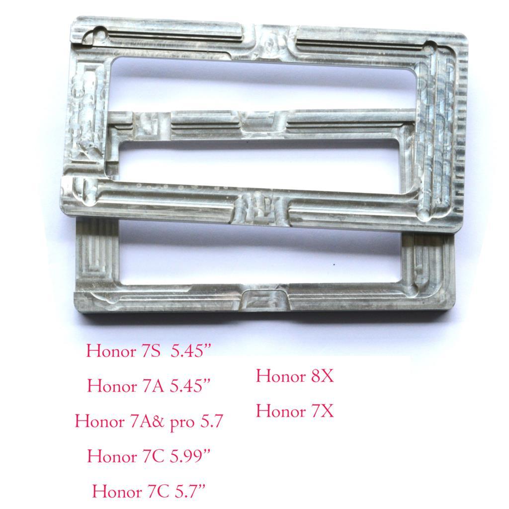Pantalla de cristal exterior LCD OCA, molde de alineación y calibración de posicionamiento con pegamento para Huawei Honor 7A 7S 7c 7X 8X pro prime