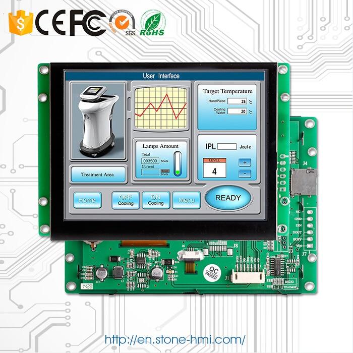 لوحة تشغيل قابلة للبرمجة TFT LCD تعمل باللمس 5.6 بوصة مع واجهة تسلسلية