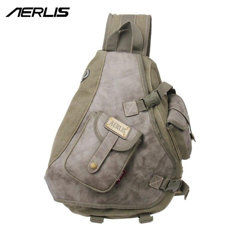 Marca AERLIS, bolso de mensajero para hombres, bolso informal de lona para hombre, bolso de pecho, bolso de hombro tipo bandolera 6215