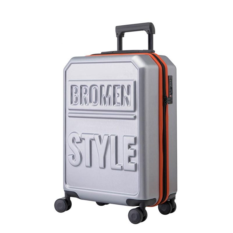 Nueva moda PC 20/24/28 pulgadas 3D impresión Rolling equipaje Trolley 20 pulgadas caja de embarque calle moda Maletas viaje bolsa maletero