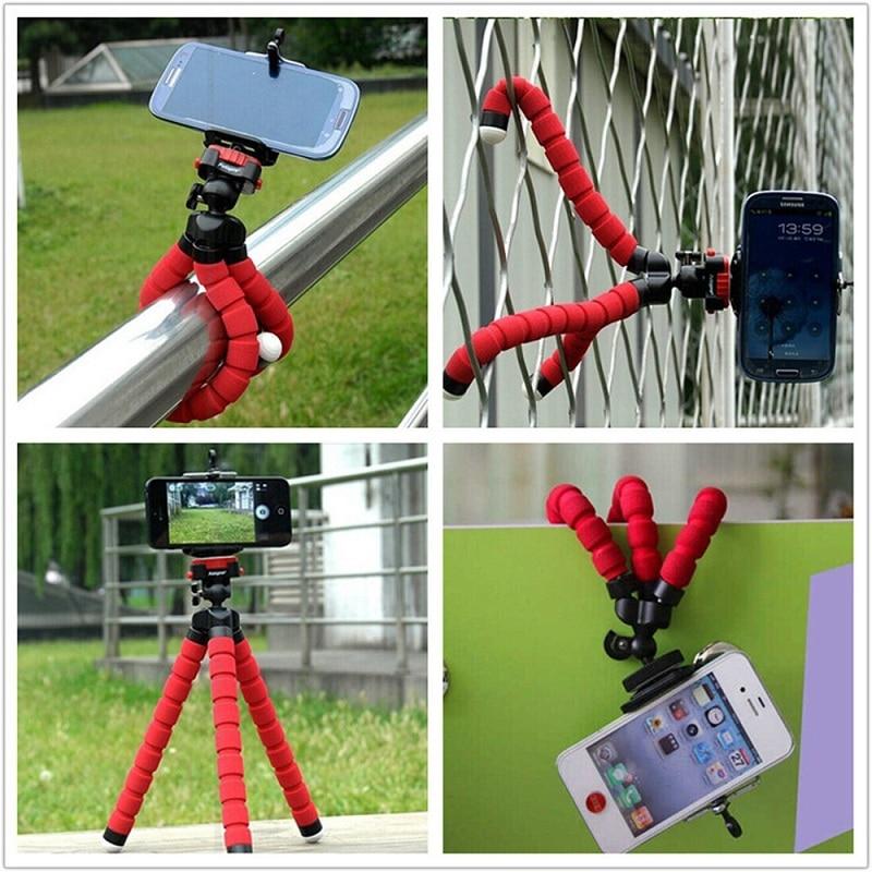Soporte de teléfono para automóvil, Flexible, pulpo, trípode, soporte de montaje, monópode, accesorios de estilismo para Sony, teléfono móvil, cámara Samsung