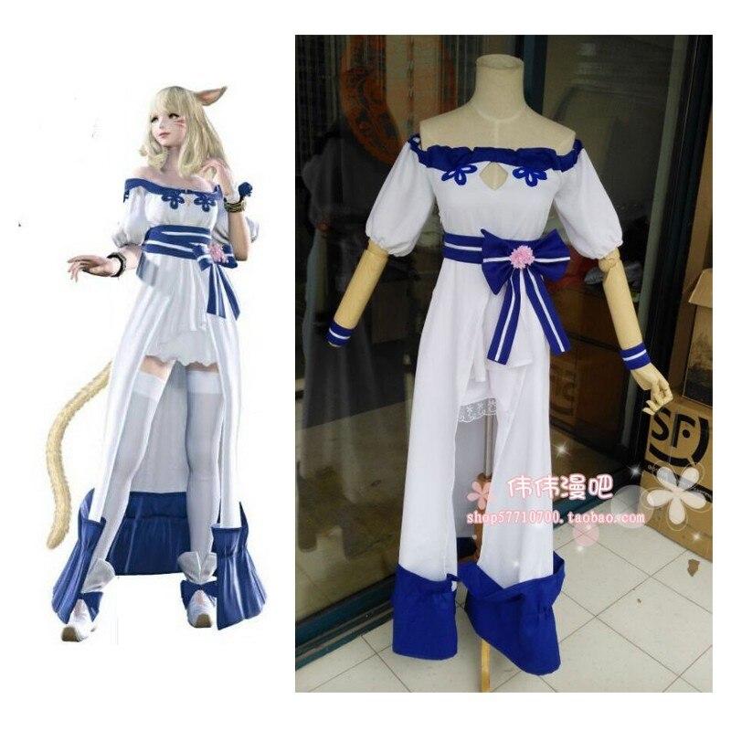 2016 Final Fantasy XIV Game Anime Fashion Lolita Full Dress Hallowmas cosplay costume Custom-made Any Size