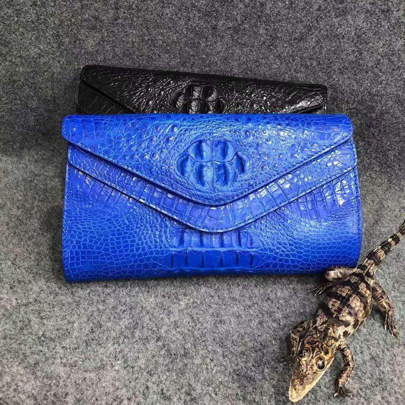 حقيبة يد نسائية من جلد التمساح الطبيعي, حقيبة يد نسائية من جلد التمساح الطبيعي متعددة الأغراض UBEJ0005