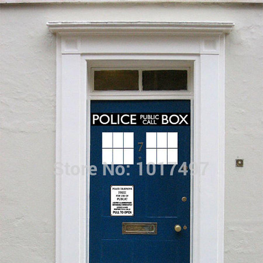 Оригинальная виниловая наклейка на дверь, дверь и холодильник, Dr. Who Doctor Style, забавные наклейки, Декор