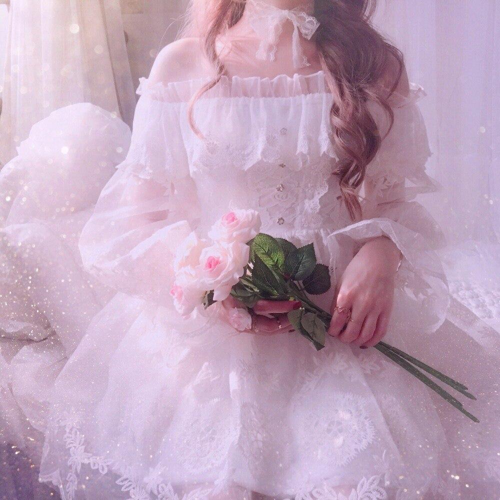 Princesa doce lolita vestido de fadas bobon21 vestido de renda cheia bordado fio pesado eugen fada vestido feminino d1590