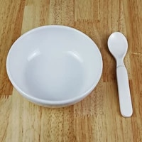 a5 melamine eco friendly dinnerware children tableware small bowll soup spoon two pieces kit kindergarten household baby cutlery