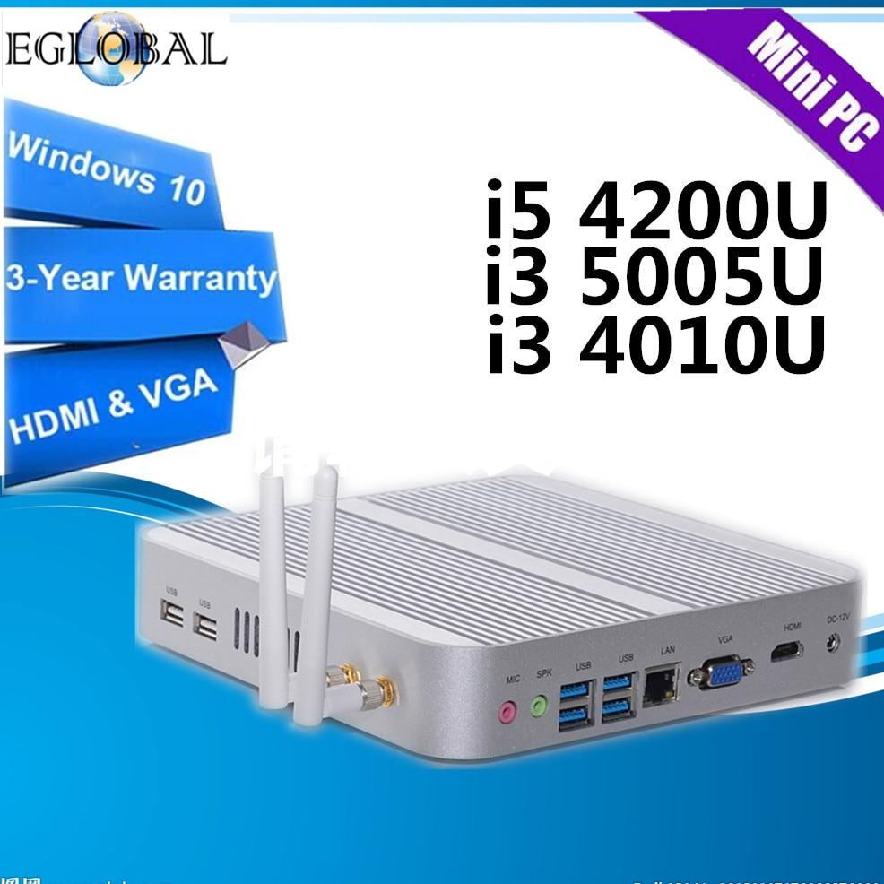 Eglobal Intel Core i5 4200U... i3 5005U... i3 4010U en Mini PC Windows10 Nuc computadora 4K HTPC TV Box 300M WIFI DHL envío gratis