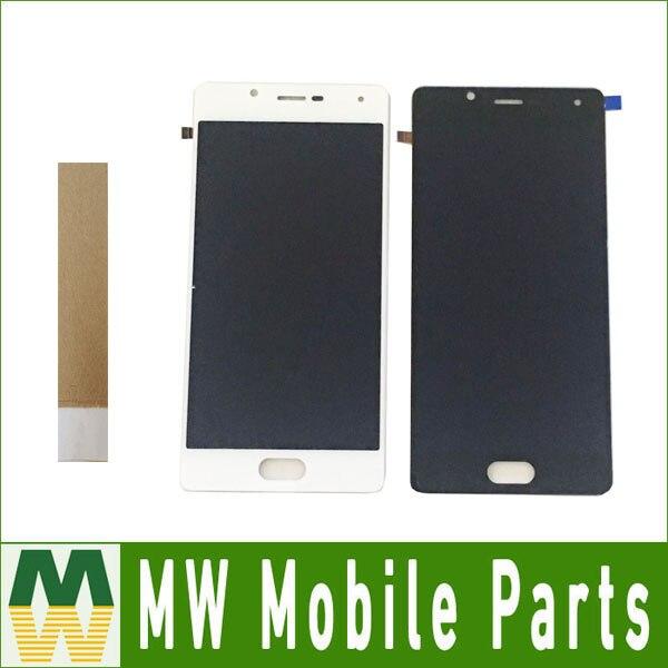 1 pieza por lote para Wiko U Feel Lite/para pantalla LCD Wiko U Feel + digitalizador de montaje de pantalla táctil color blanco negro con cinta