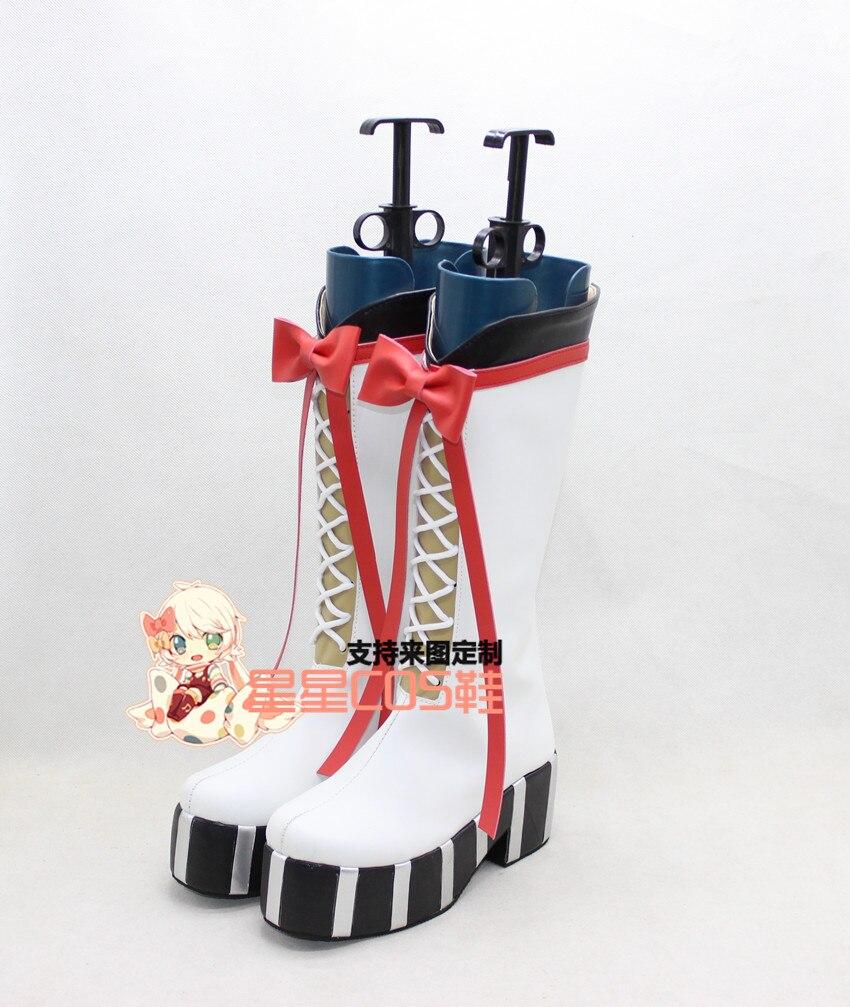 Seraph de la final Krul Tepes blanco Halloween Cosplay zapatos botas X002