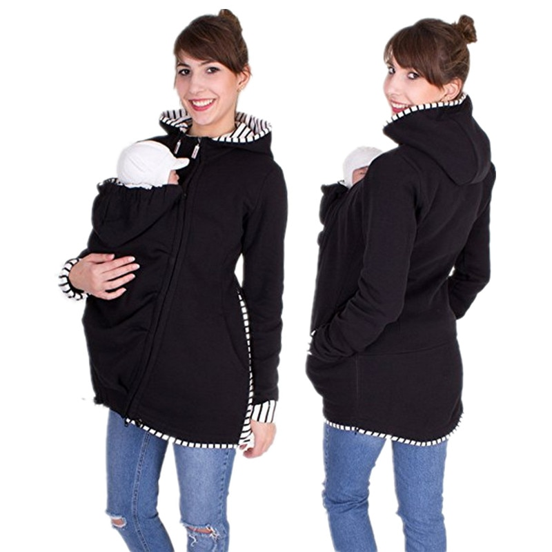 Baby Carrier Jacket Kangaroo Spring Autumn Maternity Outerwear Coat for Pregnant Women Casual Zipper Hoodie B0034 enlarge
