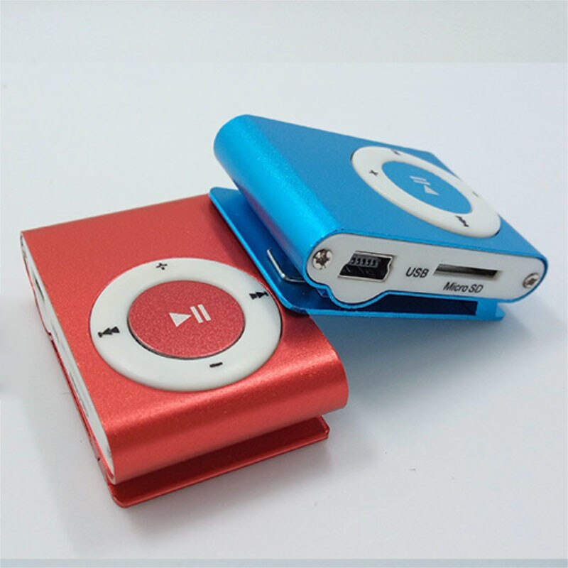 Mini reproductor de música Mp3, reproductor de Mp3 USB, reproductor de deporte MP3, ranura para tarjeta Micro TF, puerto USB con auriculares, tarjeta TF de 2GB