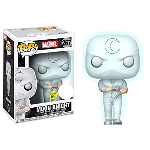 Эксклюзивный FUNKO POP официальный светится в темноте Marvel Moon Knight Виниловая фигурка Коллекционная модель игрушки с оригинальной коробкой