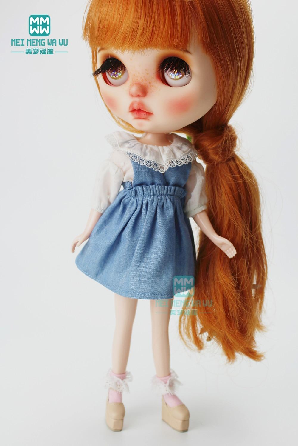 1PCS Blyth accessories fashion lantern shirt, denim dress for Blyth  Azone 1/6 doll clothes