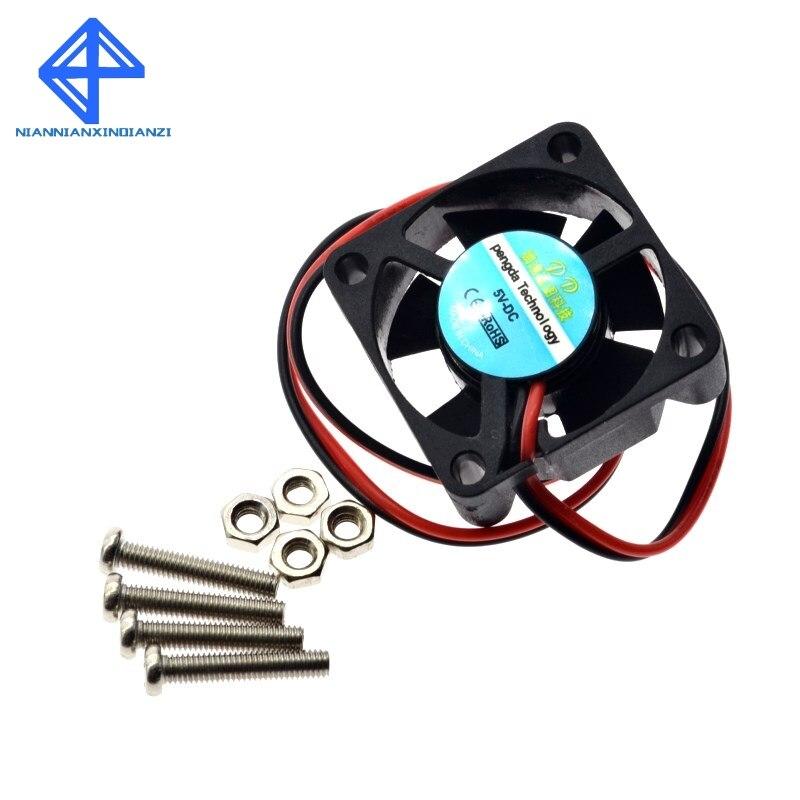 Ventilador Raspberry PI, ventilador de refrigeración activo para carcasa de acrílico personalizada/enchufe y reproducción de 5 V/compatible con Raspberry PI Modelo B Plus