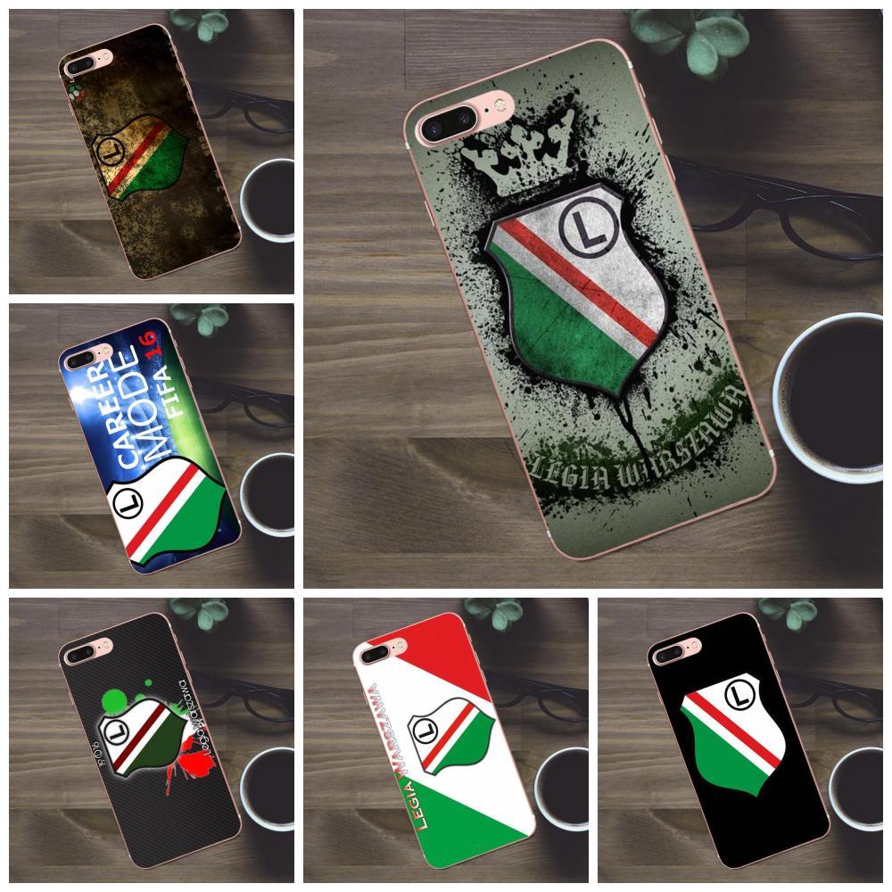 Bixedx Weiche TPU Haut Paintin Legia Warschau Für Apple iPhone X 4 4 s 5 5C SE 6 6 s 7 8 Plus Galaxy A3 A5 J1 J2 J3 J5 J7 2017