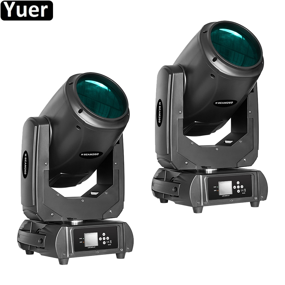 discount price 8 pack 180w 2r sharpy beam spot moving head light dmx512 for stage lighting dj disco club party dance wedding bar 2Pcs/Lot 260W Beam Spot 2IN1 Moving Head Light DMX512 DJ Disco Stage Effect Lighting Strobe For Wedding Party Bar Club Lights