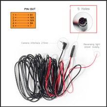 Câble dextension de la lentille arrière pour la conduite   5 broches 5 trous, 6/10 mètre longue conduite enregistreur GPS caméra arrière