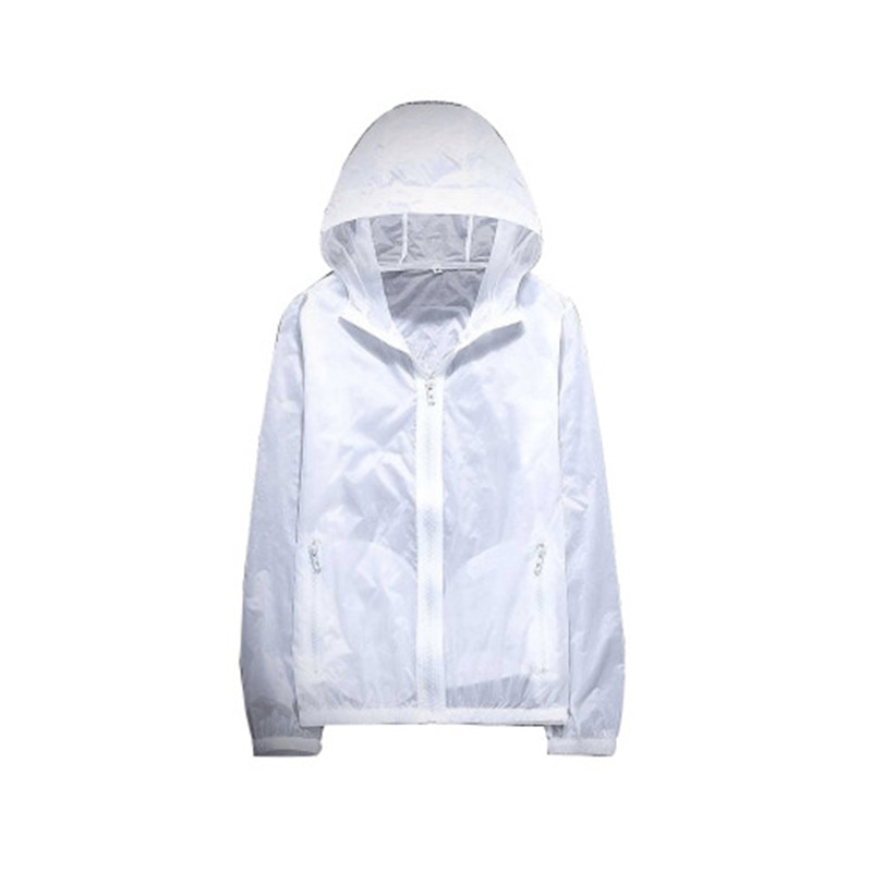 Ultra Thin Summer Riding Sunscreen Jacket Women White Blue Plus Size Couple Korean Casual UV Protection Hooded Coat Jacket CX698