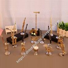 Dh Miniatuur Fluit Klarinet Saxofoon Trompet Trombone Franse Hoorn Model Mini Muziekinstrument Ornamenten Gift En Decoratie
