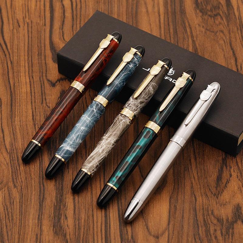 5 pcs/Lot New Shield Iraurita fountain pen Golden plated metal body Luxury pens 0.5mm X450A Stationery  School supplies FB167
