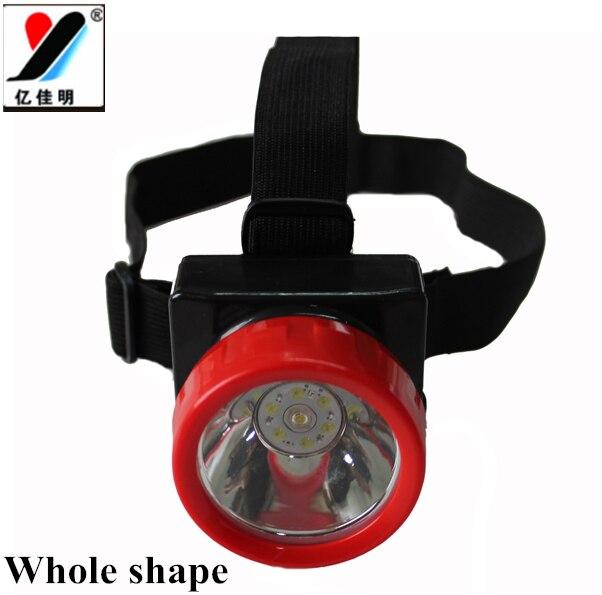 Miner regalo YJM-4625 linterna LED para cabeza baterías 18650 1W impermeable y a prueba de explosión con cargador de coche/cargador de pared/cinta para la cabeza