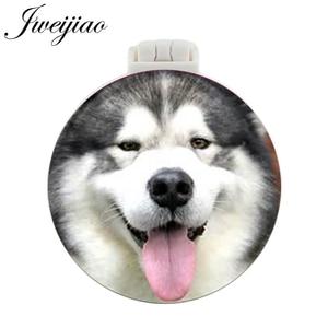 JWEIJIAO Collie Shepherd Dog карманное зеркало с массажной расческой лояльный партнер складной компактный портативный макияж ручной дамское зеркальце
