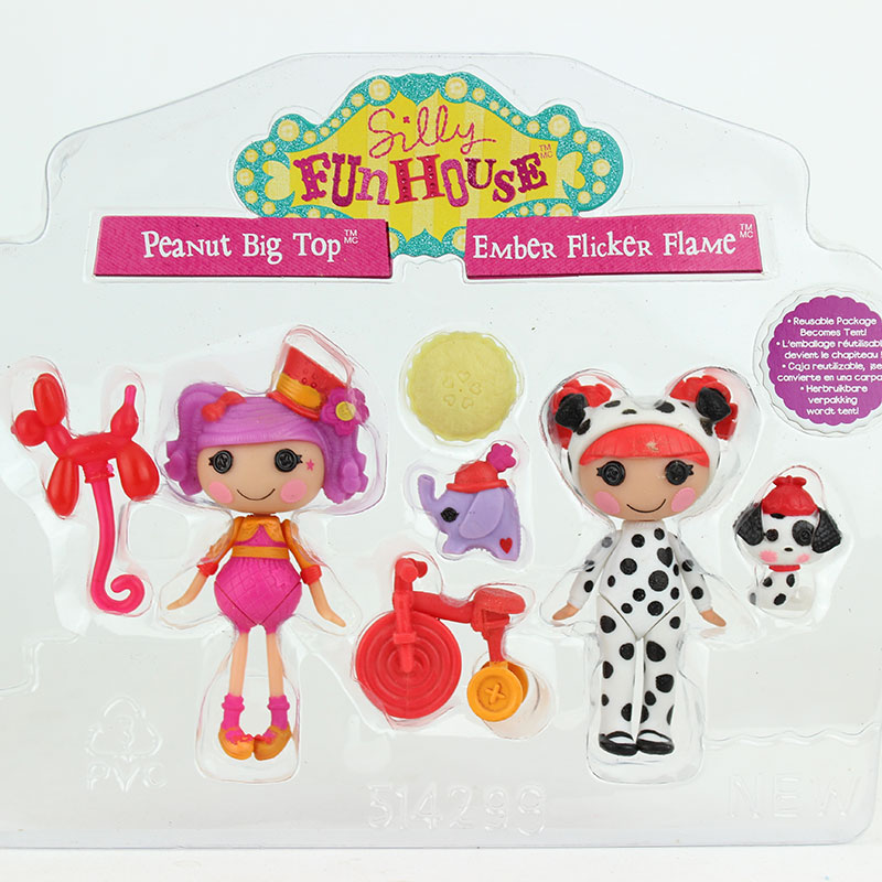 Heißer 2 stücke puppe + 4 stücke Zubehör 3 Zoll Original MGA Lalaloopsy Puppen Mit Die Zubehör, mini Puppen Für Mädchen Spielzeug Spielhaus