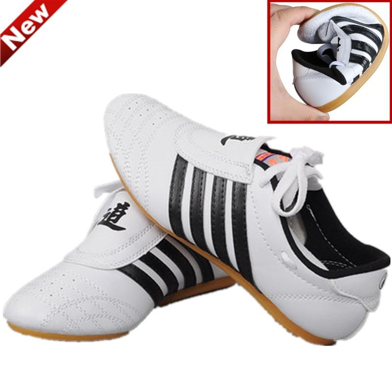Quatro viagens taekwondo sapatos adultos crianças respirável kick boxe artes marciais tênis de treinamento karate barato confortável sapatos wtf
