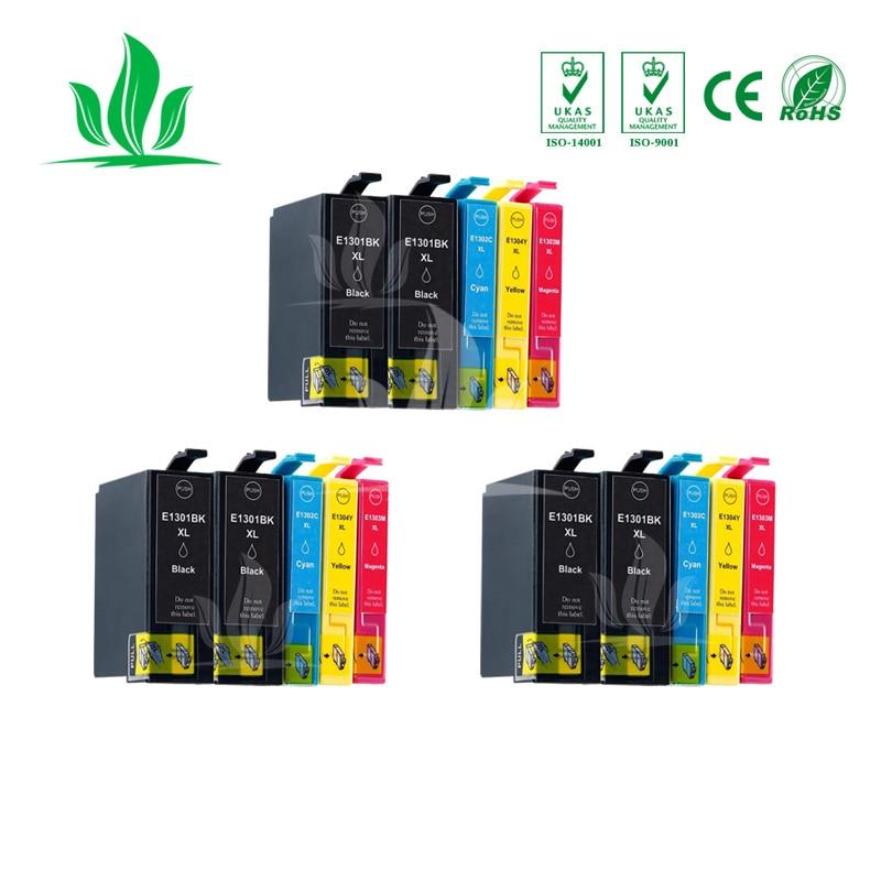 Cartucho de tinta Compatible T1301 15 piezas para Epson Stylus SX525WD SX620FW Stylus Office BX525WD BX625FWD B42WD impresora