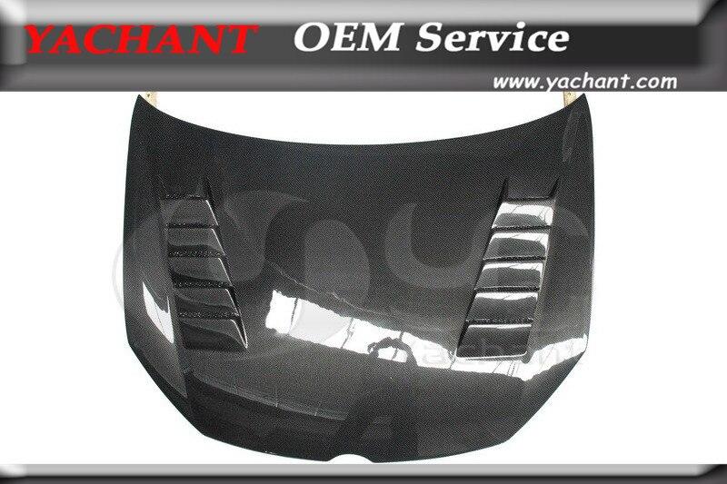 De fibra de carbono para capó de coche apto para 2009-2012 Golf MK 6 ventilación capucha capó