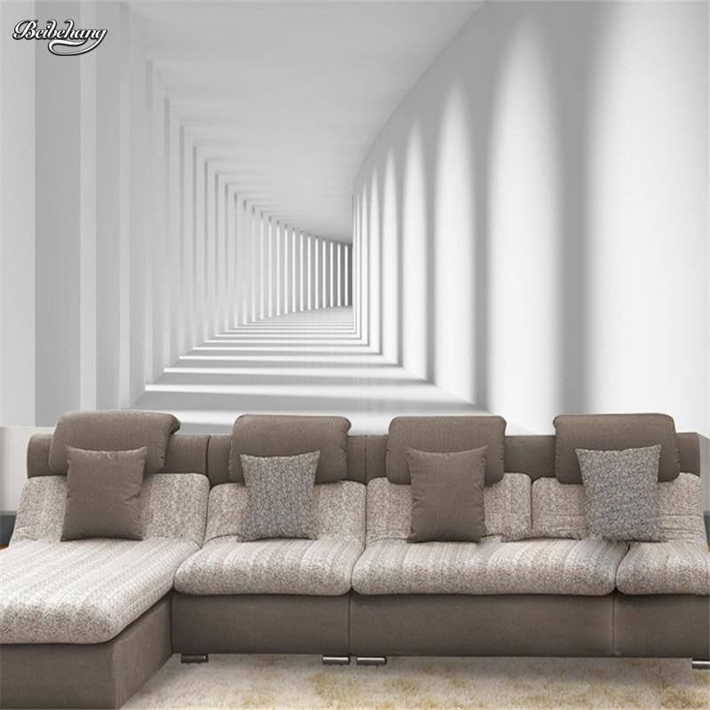 Обои для фотосъемки с белым проходом, гостиной, пространственного удлинения, индивидуальные Настенные обои