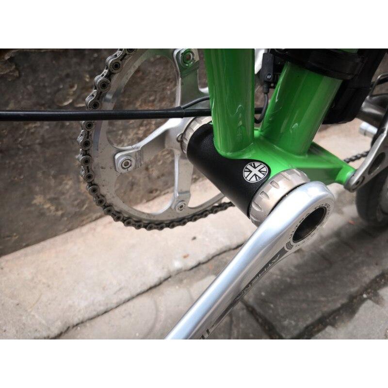 3-цветная Складная велосипедная наклейка из алюминиевого сплава, пятиполосная наклейка для велосипеда brompton, самоклеящаяся металлическая наклейка, защита