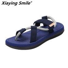 Unisex 2019 nuevo verano playa zapatos hombres sandalias estilo Roma ocio transpirable Clip dedos es cool procrastinate doble propósito sandalia masculina