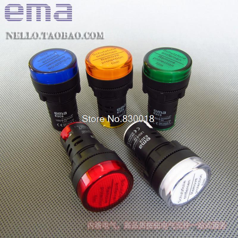 [SA] الواردات من sma LED متكاملة ، 22 مللي متر E2C0 * L LED DC24V AC110/220V--10PCS/LOT