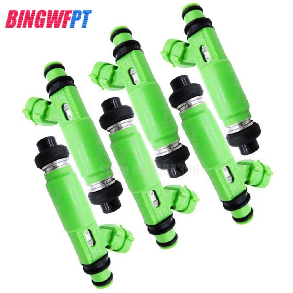 Injetores de combustível 6x para mitsubishi montero sport 3.0l 6g72 1998-2003 md332733 195500-3170 1955003170 injeção de bocal