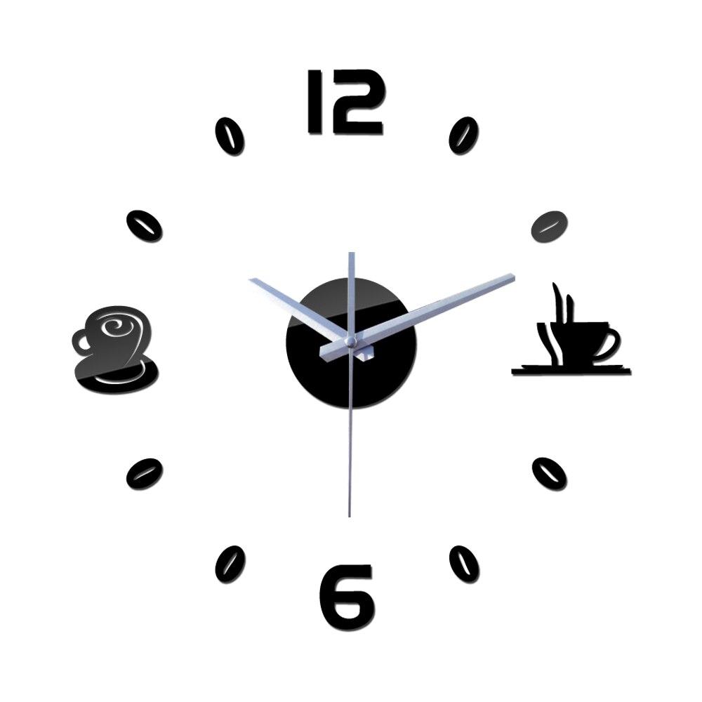Novedad de 2019, venta por tiempo limitado, Relojes de pared de cuarzo real, reloj digital clásico decorativo grande moderno de moda diy de café